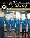 Turner Today cover of students holding up letters to spell change
