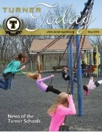 Turner Today cover of students swinging on the playground