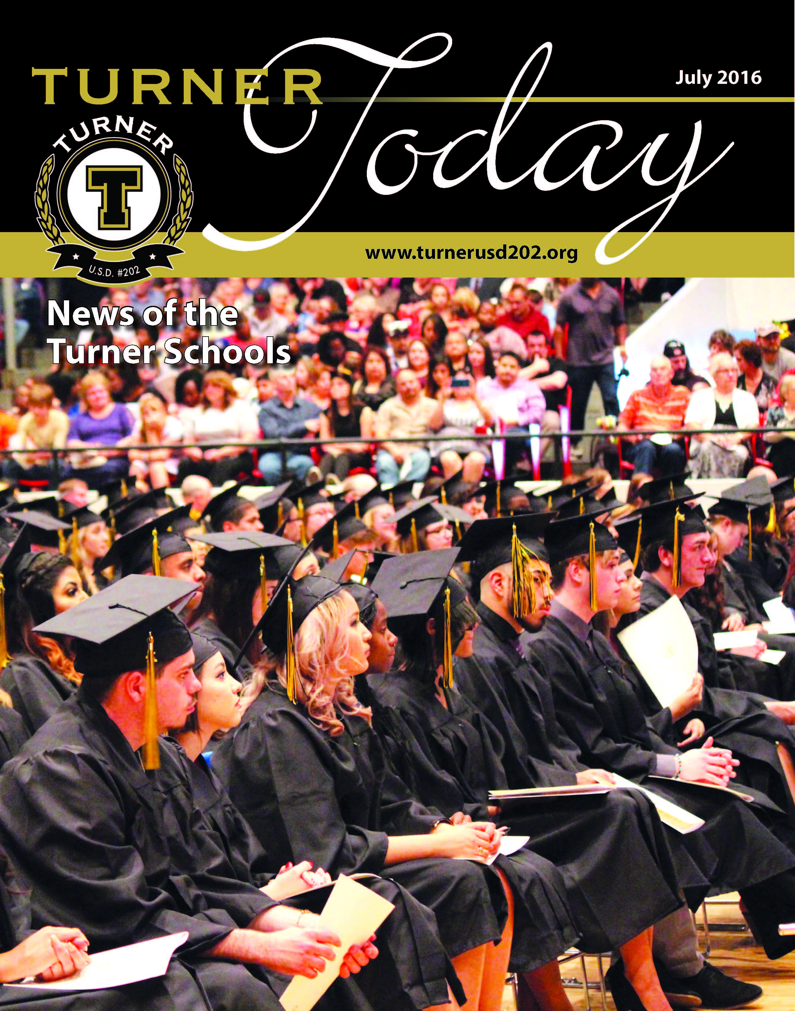 Turner Today cover of students at graduation
