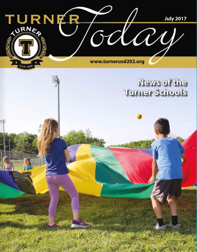 Turner Today cover of elementary students playing with a large parachute