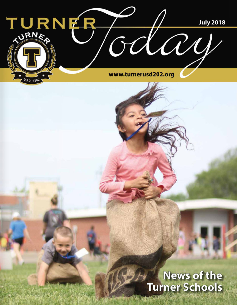 Turner Today cover of students in a sack race