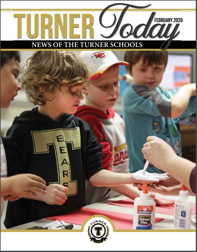 Turner Today cover of students doing Chiefs art projects